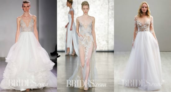 Hayley Paige, spring 2016, Inbal Dror, fall 2016 i Hayley Paige, spring 2016, fot. za: brides.com